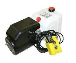 Flowfit 12v Dc Single Acting Hydraulic Power Pack With Tank Back Up Hand Pump