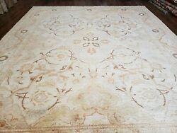 8x10 Oushak Rug Hand-knotted Signed Carpet Superior Weave Peshawar Muted Colors