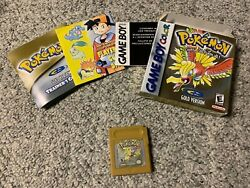 Pokemon Gold Version Game Boy Color 2000 Complete In Box Cib Needs Battery