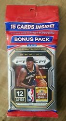 2020-2021 Panini Prizm Nba Basketball Cello Fat Pack 15 Cards Red White Blue