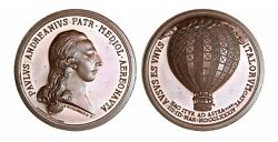 O369, Italy, 1934 Br Medal By Johnson, Paolo Andreani, First Flight, Air Balloon