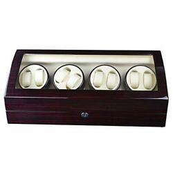 Kaibiny Storage Space 4 Modes Automatic Watch Winder Box Wood Shell Piano Paint