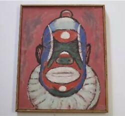 Listed John Jules Billington Painting Exhibited Expressionism 1950and039s Midcentury