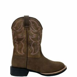 Nib - Herman Survivors Menand039s And039marshalland039 Brown Western Leather Cowboy Boots - 9