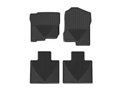 Weathertech All-weather Floor Mats For Nissan Titan / Xd - 1st And 2nd Row Black