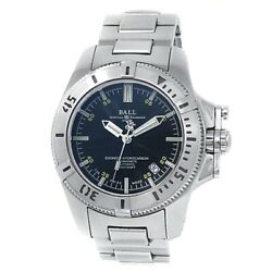 Ball Engineer Hydrocarbon Stainless Steel Automatic Black Menand039s Watch Dm1016a