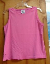 Lilly Pulitzer Pink Color 100 Cotton Sleeveless Top Size Large