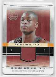 2003-04 Flair Final Edition Dwyane Wade Courtside Cuts Jersey 7/13 Rare