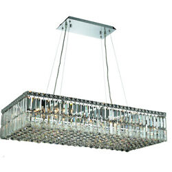 Asfour Crystal Foyer Dining Room Kitchen Island Chandelier Fixture 16 Light 36