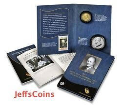 ✯ 2015 P Eisenhower Presidential Coin And Chronicles Set ✯reverse Proof Silver Ax2