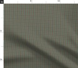 Doll Scale Hunting Weathered Red Green Tartan Spoonflower Fabric By The Yard