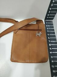 Radley london womens tan leather small over the shoulder bag $30.00