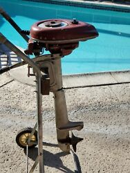 Vintage 1949 Sea King Outboard Motor 1 1/2hp 94gg9003a Montgomery Wards