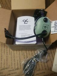 Vintage David Clark 40523g-01 Headset Nos Read And Look Pics Airplane Helicopter