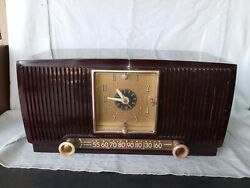 Classic 1950s General Electric Model 546 Marbled Burgundy / Black