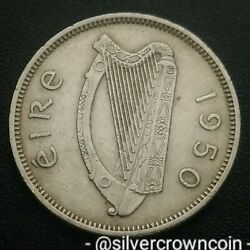 Ireland Eire 6 Pence 1950. Km13a. Sixpence Coin. Harp. Dog. Animals. Wolfhound.