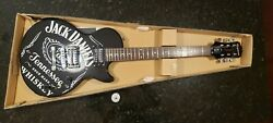 Jack Danieland039s Black Les Paul Special-ii Guitar W/ Carrying Case Brand New