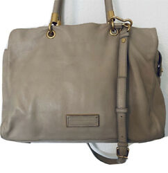 Marc by Marc Jacobs Taupe Leather Tote Hobo Satchel Bag or Handbag $100.00
