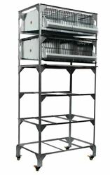 New Gqf 0316 Quail Poultry Battery Stack Breeding Pen Stand + Pens