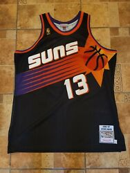 Nba Adult Xl 48 Authentic Mitchell And Ness Suns 13 Nash Jersey Authentic