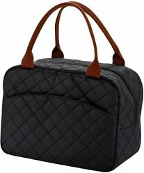Lunch Bag Tote for Women GirlInsulated Thermal Lunch Box Organizer Wide Open Wa $18.95
