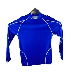 Under Armour Cold Gear Compression Performance Mock Long Sleeve Shirt Blue Xxl