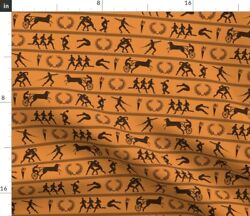 Ancient Greek Games Sports Field Pottery Spoonflower Fabric By The Yard