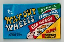 1 One 1970 Topps Way Out Wheels Sealed Unopened Wax Pack Very Hard To Find