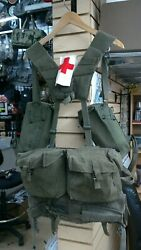 Vintage Wwii Or Viet Era Military Flyers Harness And Belt With Pouches