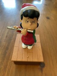 2011 Hallmark Christmas Wireless Band Lucy Playing Flute Peanuts Tested Works