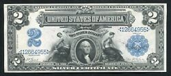 """Fr. 249 1899 2 Two Dollars """"mini Porthole"""" Silver Certificate Currency Note Xf"""