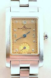 Baume And Mercier Womenand039s Watch Hampton Mv045139 In Exc. Cond. Tan Color Dial