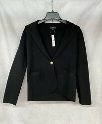 J Crew Camille Sweater-blazer Jacket Black Size Small New With Tags