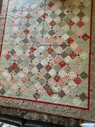 Porcelain By Moda Fabric Queen Size Quilt 75 X 87