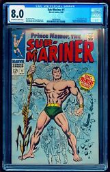 🔥 Sub-mariner 1 Cgc 8.0 Ow White Perfect Wrap 🔥 Free Shipping W Any Auction