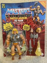 In Hand Unpunched Masters Of The Universe Origins Battle Armor He-man Motu Fresh