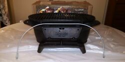 Lodge Sportsmanand039s Cast Iron Grill Portable Made In Usa Discontinued Excellent