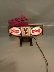 Vintage Red Neon Anheuser Busch Budweiser Light Up Sign With Eagle - Works