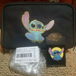 Disney Auctions Stitch Pin Trading Fanny Pack Bag And Pinandnbsple 1500 - Rare - New