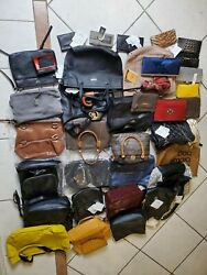 Lot Of 37 Handbags Wallets Clutches and Accessories for Parts Repair Crafts $69.99