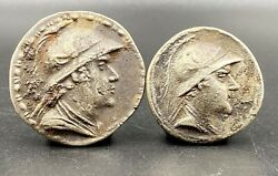 Old Currency Ancient Antique Silver Indo Greek's Greco Bactrian Coins