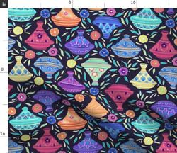 Morocco African Middle Eastern Cooking Pottery Spoonflower Fabric By The Yard