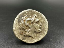Alexander Old Currency Ancient Antique Silver Indo Greekand039s Greco Bactrian Coins