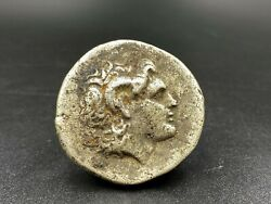 Alexander Old Currency Ancient Antique Silver Indo Greek's Greco Bactrian Coins
