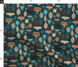 Geometric Terracotta Pottery Vases Bowl Urns Spoonflower Fabric By The Yard