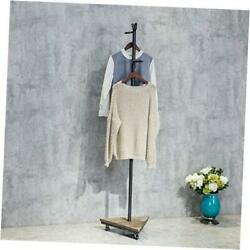Industrial Pipe Clothing Rack Standing Roll Garment Rack Clothes Display