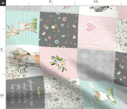 Woodland Animals Nursery Patchwork Cheater Panel Spoonflower Fabric By The Yard