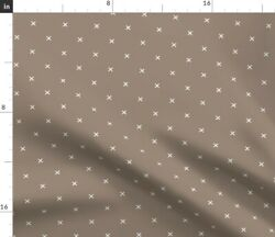 Mocha Brown Spoonflower Fabric By The Yard