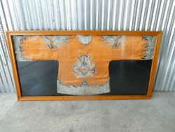 19th C Chinese Silk Robe Framed With Red Seal Of Antiquity
