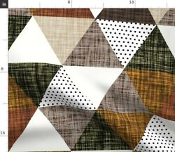 Mocha Brown Triangles Cinnamon Brown Triangles Spoonflower Fabric By The Yard